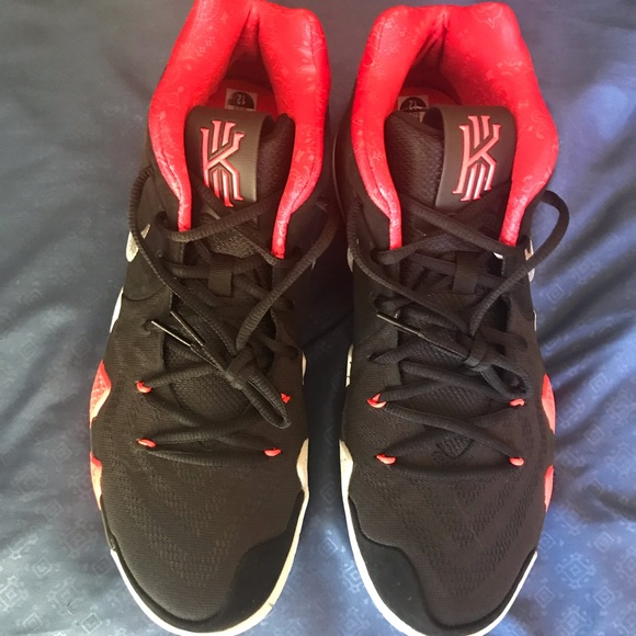 "buy popular 2de49 4fa51 Kyrie 4 ""41 For the Ages"" Black/ Solar Red/ White"